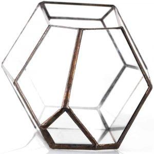 irregular terrarium planter glass