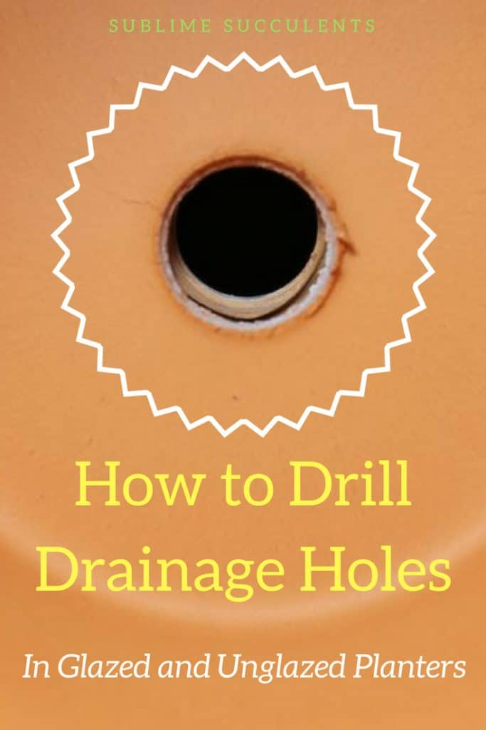 How to Drill Drainage Holes in Terracotta and Clay – Sublime