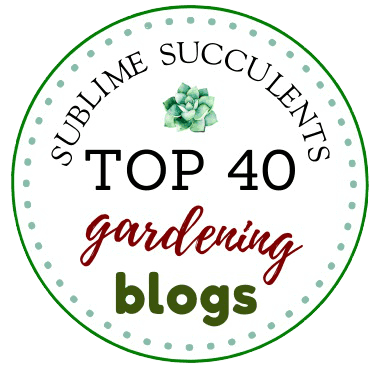 Badge Top 40 Gardening Blog